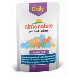 Almo Nature Daily Menu 貓濕糧、-鱈魚、鮮蝦 ( 70g )