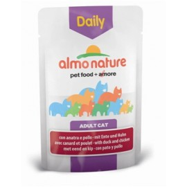 Almo Nature Daily Menu 貓濕糧、鴨肉、雞肉 ( 70g )