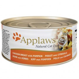 Applaws (愛普士)  Cat Canned Food - Chicken Breast with Pumpkin貓糧罐頭 - 雞胸肉、南瓜 ( 70g )