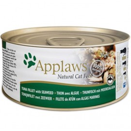 Applaws (愛普士) Cat Canned Food - Tuna Fillet with Seaweed 天然貓糧罐頭 - 吞拿魚柳、海澡 (156g)
