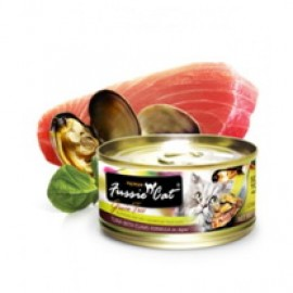 Fussie Cat Tuna with Clam (黑鑽吞拿魚+ BB蜆) 80g