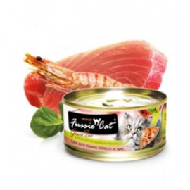 Fussie Cat Tuna with Prawns (黑鑽吞拿魚+ 虎蝦) 80g