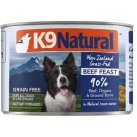 K9 Natural Beef Feast Can 主食狗罐頭 - 牛肉盛宴配方 ( 170g )